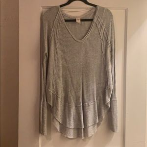 Free People We The Free Catalina Grey Thermal Sz S